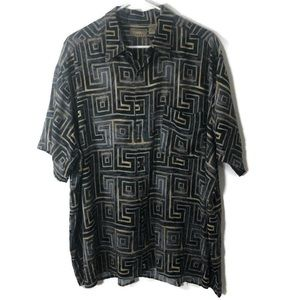 Natural Issue Sz XL Geometric Short Sleeves Shirt